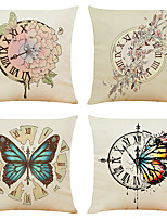 cheap -Cushion Cover 4PCS Short Plush Soft Decorative Square Throw Pillow Cover Cushion Case Pillowcase for Sofa Bedroom 45 x 45 cm (18 x 18 Inch) Superior Quality Machine Washable