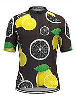 cheap -Men's Short Sleeve Cycling Jersey Black Fruit Bike Top Mountain Bike MTB Road Bike Cycling Breathable Sports Clothing Apparel / Stretchy / Athletic