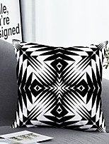cheap -1 pcs Polyester Pillow Cover & Insert, Geometric 3D Simple Classic Square Zipper Polyester Traditional Classic