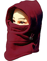 cheap -Winter Snowboard Face Hat Fleece Hood Ski Mask Wool Beret Balaclava Dark Red