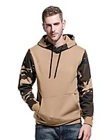 cheap -Men's Pullover Hoodie Sweatshirt Outdoor Lightweight Windproof Breathable Quick Dry Autumn / Fall Winter ArmyGreen Black khaki Fishing Climbing Camping / Hiking / Caving