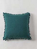 cheap -Cushion Cover Cocoa Solid Color Cotton Canvas Tassel Pillow Case Cover Living Room Bedroom Sofa Cushion Cover Modern Sample Room Cushion Cover