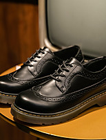 cheap -Men's Oxfords Business Casual British Daily Office & Career Walking Shoes PU Breathable Non-slipping Wear Proof Black Spring Fall