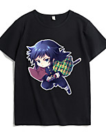 cheap -Inspired by Demon Slayer Cosplay Cosplay Costume T-shirt Microfiber Graphic Prints Printing T-shirt For Men's / Women's