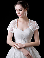 cheap -Short Sleeve Coats / Jackets / Shawls Tulle Wedding / Party / Evening Shawl & Wrap / Women's Wrap With Lace