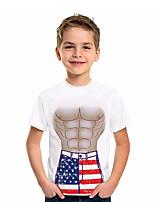 cheap -Kids Boys' Active Graphic 3D Print Short Sleeve Tee White