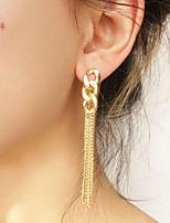 cheap -Women's Drop Earrings Geometrical Precious Fashion Earrings Jewelry Gold For Christmas Birthday Street Gift Date 1 Pair