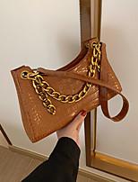 cheap -women fashion alligator chain pu solid casual shoulder bag handbag