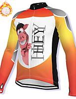 cheap -21Grams Men's Long Sleeve Cycling Jacket Winter Fleece Spandex White Bike Jacket Mountain Bike MTB Road Bike Cycling Fleece Lining Warm Sports Clothing Apparel / Stretchy / Athleisure