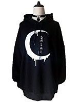 cheap -Inspired by Gothic Moon Costume Hoodie Polyester / Cotton Blend Printing Hoodie For Men's