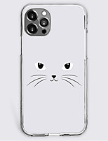 cheap -cartoon cat fashion case for apple iphone 12 iphone 11 iphone 12 pro max unique design protective case shockproof back cover tpu