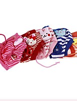 cheap -Dog Cat Pants Striped Cute Dog Clothes Puppy Clothes Dog Outfits Red Blue Pink Costume for Girl and Boy Dog Polyester S M L