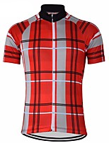 cheap -21Grams Men's Short Sleeve Cycling Jersey Yellow Red Bike Top Mountain Bike MTB Road Bike Cycling Breathable Sports Clothing Apparel / Stretchy / Athletic