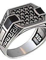 cheap -Silver Onyx & Marcasite Luxury Turkish Handmade Men's Ring