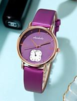 cheap -Women's Quartz Watches Quartz Stylish Fashion Cute Analog White Black Purple / One Year / PU Leather