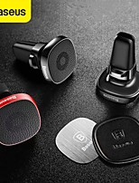 cheap -BASEUS Phone Holder Stand Mount Car Air Vent Outlet Grille Car Cup Holder Phone Holder Magnetic Type Outlet Type Leather Aluminum Alloy Silica Gel Phone Accessory iPhone 12 11 Pro Xs Xs Max Xr X 8