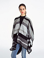 cheap -Sleeveless Ladies / Shawls Imitation Cashmere Special Occasion / Formal Shawl & Wrap / Women's Wrap With Stripe