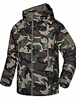 cheap -Men's Hiking Softshell Jacket Hiking Fleece Jacket Winter Outdoor Waterproof Lightweight Windproof Breathable Jacket Top Fishing Climbing Camping / Hiking / Caving ACU Color CP Color Jungle