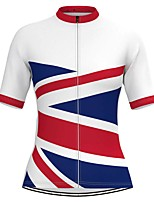 cheap -Women's Short Sleeve Cycling Jersey White Patchwork Bike Top Mountain Bike MTB Road Bike Cycling Breathable Quick Dry Sports Clothing Apparel / Stretchy / Athleisure