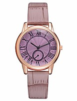 cheap -Watches for Girls,Leather Imitation Pattern Fashion Watch Quartz Analog Wrist Watches(Purple)