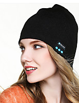 cheap -Men's Women's Hiking Cap 1 PCS Winter Outdoor Windproof Warm Soft Thick Skull Cap Beanie Solid Color Orlon Black Blue Grey for Climbing Beach Camping / Hiking / Caving