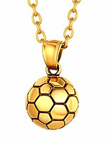 cheap -Boys Gold Football Pendant Necklace Gift Soccer Ball Charm and Durable Chain