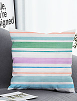 cheap -1 pcs Polyester Pillow Cover & Insert, Color Block Simple Classic Square Zipper Polyester Traditional Classic