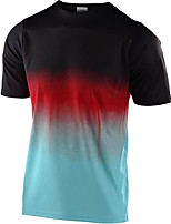 cheap -Men's Short Sleeve Downhill Jersey Black Gradient Bike Top Mountain Bike MTB Road Bike Cycling Breathable Sports Clothing Apparel / Stretchy / Athletic