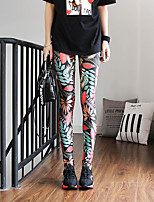 cheap -Women's Stylish Casual / Sporty Breathable Comfort Sports Weekend Gym Leggings Pants Graphic Ankle-Length Sporty Print Black Blue Purple Red Green
