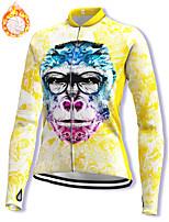 cheap -21Grams Women's Long Sleeve Cycling Jacket Winter Fleece Spandex Yellow Bike Jacket Mountain Bike MTB Road Bike Cycling Fleece Lining Warm Sports Clothing Apparel / Stretchy / Athleisure