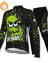 cheap -21Grams Men's Long Sleeve Cycling Jacket with Pants Winter Fleece Spandex Black Bike Fleece Lining Warm Sports Graphic Mountain Bike MTB Road Bike Cycling Clothing Apparel / Stretchy / Athleisure