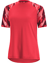 cheap -Women's Short Sleeve Downhill Jersey Red Bike Top Mountain Bike MTB Road Bike Cycling Breathable Quick Dry Sports Clothing Apparel / Stretchy / Athleisure
