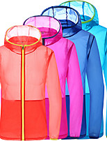 cheap -Men's Hoodie Jacket Hiking Skin Jacket Skin Coat Long Sleeve Sweatshirt Top Outdoor Lightweight Breathable Quick Dry Sweat-wicking Autumn / Fall Spring Solid Color Sapphire Orange orange White
