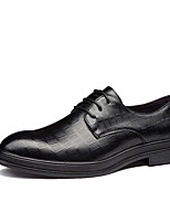 cheap -Men's Oxfords Business Daily Office & Career Walking Shoes PU Breathable Non-slipping Wear Proof Black Brown Color Block Spring Fall