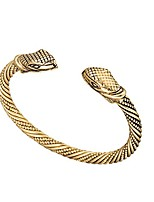cheap -qualified vintage viking snake head wristband cuff bangle bracelets jewelry for unisex people (antique brass)
