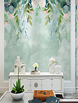 cheap -Green Leaf Wallpaper Self-Adhesive Removable Peel and Stick Wallpaper Decorative Wall Covering for Wall Surface Cover Easy to Apply