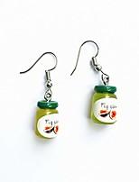 cheap -women 3d mini fruit jam bottle earrings funny simulated bottle ear hook ladies piercing eardrop