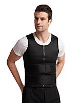 cheap -Men's Double Waist Belt Vest Shapewear Reinforced Sweat Rubber Corset Tunic Sports Waist Abdomen Belt