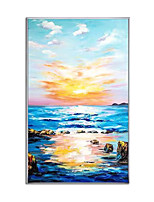 cheap -100% Hand-Painted Contemporary Art Oil Painting On Canvas Modern Paintings Home Interior Decor Abstract Sunrise Art Painting Large Canvas Art(Rolled Canvas without Frame)