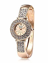 cheap -Watches for Girls,Diamond Bracelet Watch Analog Quartz Movement Round Wrist Watch(Rose Gold)