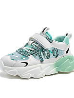 cheap -Girls' Trainers Athletic Shoes Comfort PU Little Kids(4-7ys) Big Kids(7years +) Daily Walking Shoes Pink Green Spring Fall