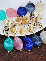 cheap -Women's Drop Earrings Hoop Earrings Earrings Chandelier Holiday Fashion Birthday Luxury Elegant Punk Trendy Rock Resin Earrings Jewelry White / Blue / Blushing Pink For Street Date Birthday Beach
