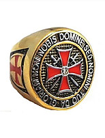 cheap -Knight Templar Ring - Masonic College Style Gold Color Stainless Steel Ring