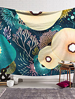 cheap -Wall Tapestry Art Decor Blanket Curtain Hanging Home Bedroom Living Room Decoration Polyester Retro Tropical Leaves Colorful Lotus