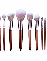 cheap -11 Beginner Makeup Brush Set Blush Brush Foundation Brush Eye Shadow Brush Portable Professional Full Set of Makeup Appliances (Color : Brown)