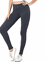 cheap -High Waisted Leggings for Women Yoga Pants Tummy Control Leggings Workout Running Seamless Footless Tights(Gray, One Size)