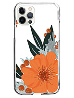 cheap -orange flower fashion case for apple iphone 12 iphone 11 iphone 12 pro max unique design protective case shockproof back cover tpu instagram style case