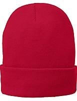 cheap -Super Stretch Fine Gauge Winter Cuff Folded Long Beanie - Red