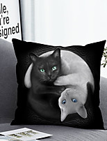 cheap -1 pcs Polyester Pillow Cover & Insert, 3D Animal Simple Classic Square Zipper Polyester Traditional Classic
