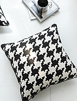 cheap -Cushion Cover Classic Houndstooth Black and White Series Home Office Simplicity Pillow Case Cover Living Room Bedroom Sofa Cushion Cover
